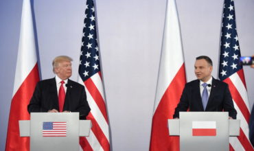 Political meeting of two leader - Donald Trump and Andrzej Duda.