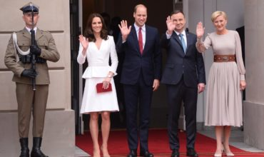 Prince William and Princess Kate in Poland. International cooperations. Meeting with war veterans in Warsaw.