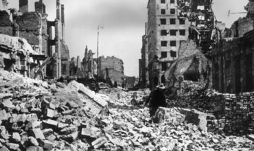 War damage, during World War II Warsaw was almost completely destroyed.