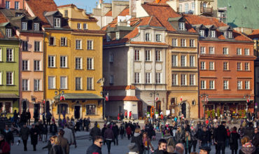 Warsaw, the most important tourist destination, beautiful architecture.