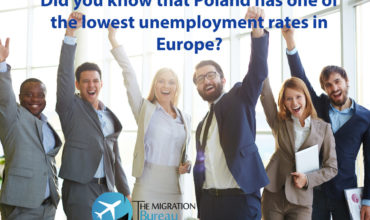 Employees from various countries, enjoying the low unemployment in Poland and the fact that you can easily find a job here.