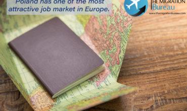 Poland has attractive job market, visa type D, working in Poland, passport.