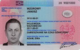A residence card, giving the right to stay in Poland to foreigners.